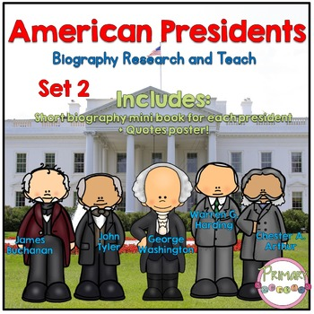 American Presidents- Biography Research and Teach - Set 2