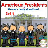 American Presidents- Biography Research and Teach - Set 4