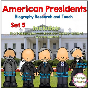 American Presidents- Biography Research and Teach - Set 5