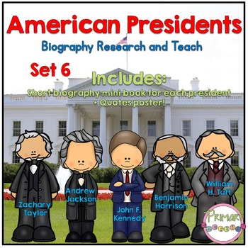 American Presidents- Biography Research and Teach - Set 6