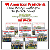 American Presidents- Biography Research and Teach - THE BUNDLE
