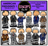 American Presidents 1 Clip Art Bundle {Educlips Clipart}