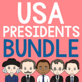 AMERICAN PRESIDENTS Coloring Pages, Notebook Journal & Research Brochures BUNDLE