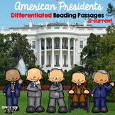 American Presidents Differentiated Reading Passages volume 3 bundle