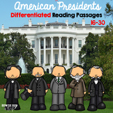 American Presidents Differentiated Reading Passages volume 2 bundle