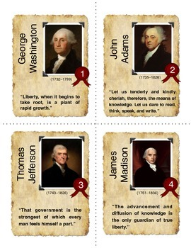 American Presidents - Mnemonics and Memory Tricks