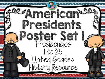American Presidents Poster Set 1