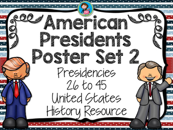 American Presidents Posters Set 2