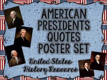 American Presidents Quotes Posters Set