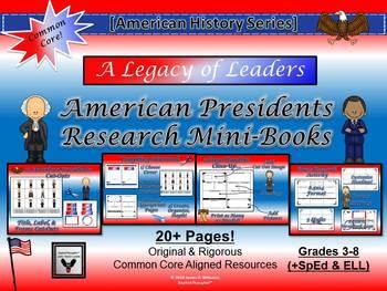 American Presidents Research Mini-Book Activity Common Core