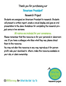 American Presidents Research Project
