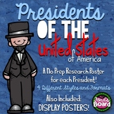 Presidents Research Projects | 45 Book Reports, Display Posters, and More