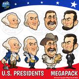 American Presidents / USA Presidents Day Washington Lincoln Jefferson Roosevelt