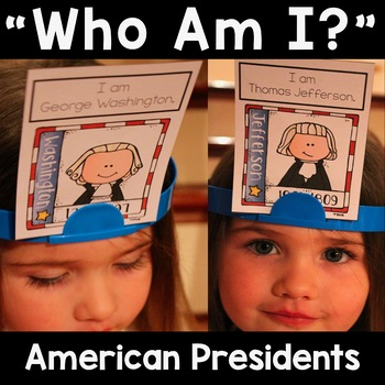"""American Presidents """"Who Am I?"""" Game Cards"""