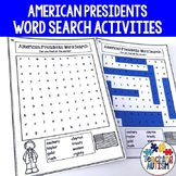 Presidents Day Word Search Pack, American Presidents