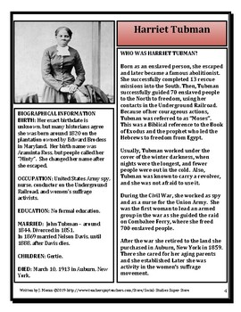 American Profiles - Harriet Tubman