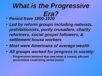 American Progressive Movement - Government Reform