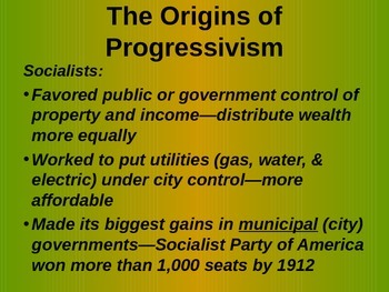 American Progressive Movement - Government Reform