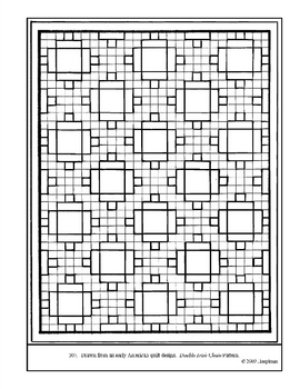 American Quilt. Double Irish Chain. Coloring page & lesson plan ideas