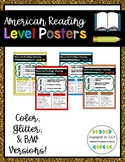 American Reading Color Level Posters