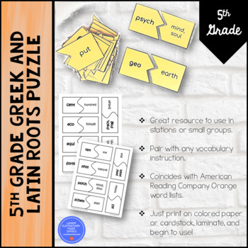 American Reading Company - Greek and Latin Roots Puzzle (Orange)