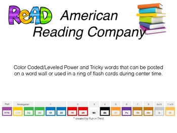 American Reading Company Power/Tricky Word Cards
