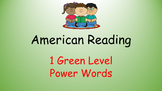 American Reading Power Words 1G List with Recording Sheet