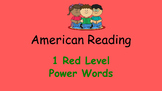 American Reading Power Words 1R List and Recording Sheet
