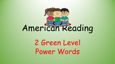 American Reading Power Words 2G List with Recording Sheet