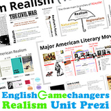 American Realism Prezi & Google Slides Unit Activities