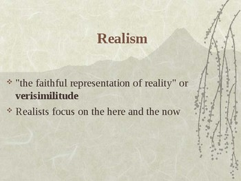 American Realism and Naturalism PowerPoint