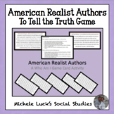"""American Realist Authors Who Am I """"To Tell the Truth"""" Game"""