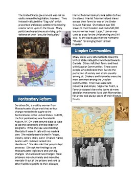 American Reform Movements in the 1800s