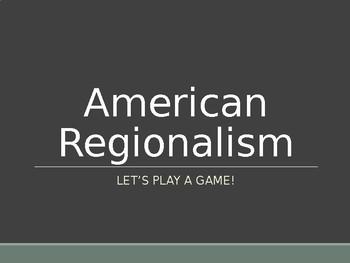 American Regionalism GAME