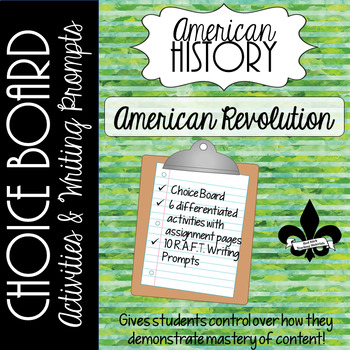 American Revolution Choice Board