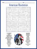 American Revolution Word Search Puzzle