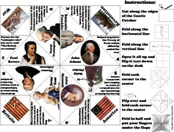 American Revolution Activity: George Washington, US Constitution etc