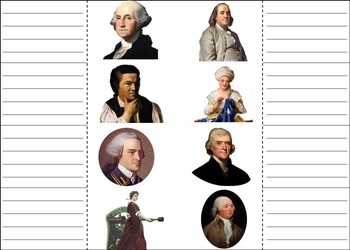 American Revolution Activity: George Washington, Constitution etc