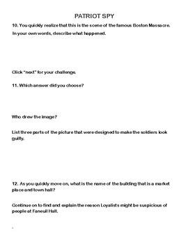 American Revolution-A Web Adventure for Grades 4-8