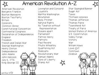 American Revolution A-Z Book