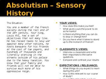 American Revolution: Absolutism Day 1