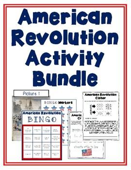 American Revolution Activity Bundle