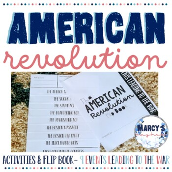 American Revolution Project Flip book and Matching Activity