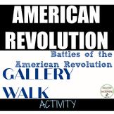 American Revolution Activity Battles Gallery Walk distance learning