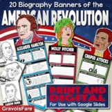 American Revolution Activity — Biography Banners — Print and Google Slides