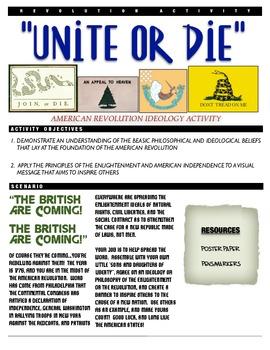 "American Revolution Activity - ""Unite or Die"""