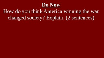 American Revolution - After the War - PowerPoint