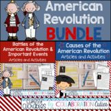 American Revolution Articles Bundle- Causes and Important Events {+ Activities}
