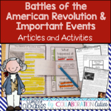 American Revolution Articles and Activities for Important Events in the War