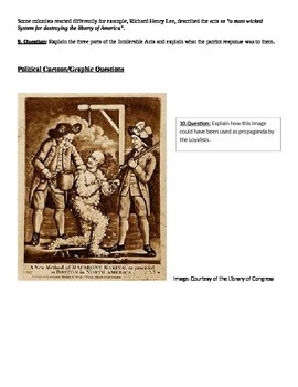 American Revolution Assessment Free Response